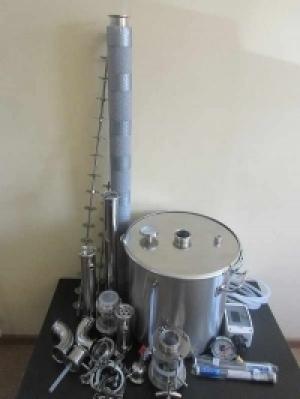 Непрерывная бражная колонна НБК с кубом 37 или 50 литров.